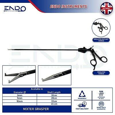 ENDO® New Laparoscopic Laparoscopy Mixture Grasper Grasping Forceps 5mm 33cm CE