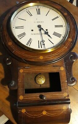 G Hicks Northampton Chiming Wooden Wall Clock