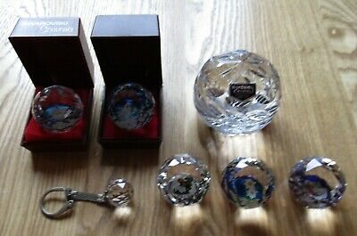 Joblot Collection Bundle 7 x Swarovski Souvenier Paperweights & Wordsley Crystal