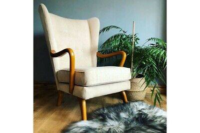 1950s Howard Keith Bambino Armchair Chair Atomic Wingback Vintage Mid Century