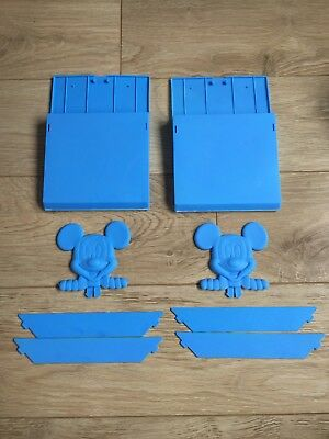 2x Brand New Blue Disney Mickey Mouse Book Racks - Free P&P
