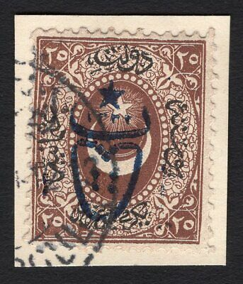 Turkey 1917 cut with stamp Mi#493 used CV=60€