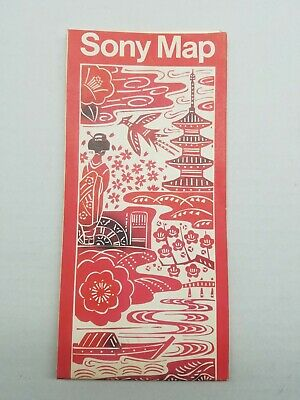 Vintage Sony Map - Brief Map From Tokyo To Narita - 1978 - Rare - Map Of Japan