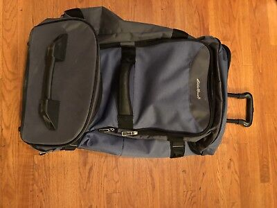 EDDIE BAUER EXPEDITION Rolling Drop Bottom TSA Medium Carry On ... 30a6ded553
