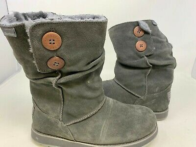 1e4a7ea95f62 Skechers Women s Pull On Fur Lined Boots Charcoal Size 7   47221 151C