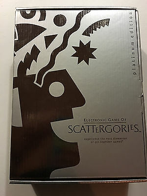 Electronic Game of Scattergories Platinum Edition 2001 Great Condition Hasbro