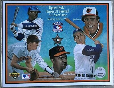 1993 Upper Deck Heroes Of Baseball All-Star Game July 12 Commemorative Sheets