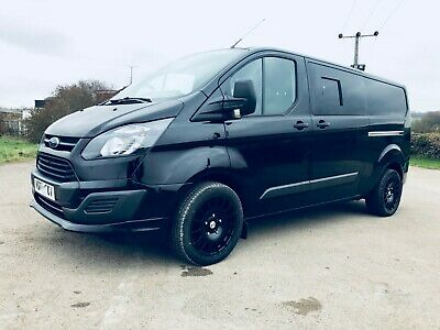 Ford transit custom Limited LWB RS sport kit 6 seat double cab NO VAT air con