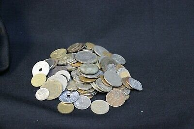 ONE POUND Assorted Foreign Coins Mixed Bag Lot