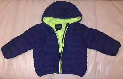 Boys Next Puffer Coat, Size 1.5-2 Years, Navy Blue, Great Condition