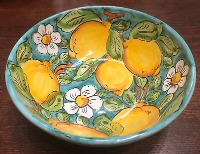 Vietri Pottery-8 inch bowl lemon.Made/Painted by hand in Italy