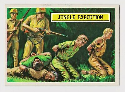 1965 TOPPS Battle Card #37--Jungle Execution--Very Good Condition