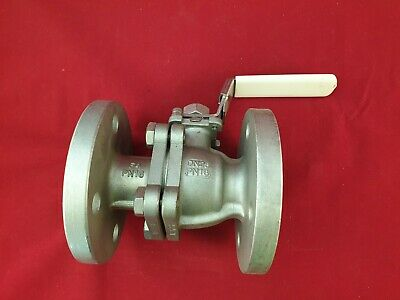"Stainless Steel Flanged Ball Valve 1"" DN25"