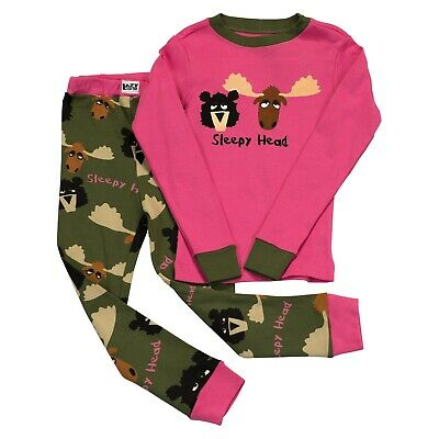 LazyOne Mädchen Sleepy Head Kinder Pyjama Set Langarm