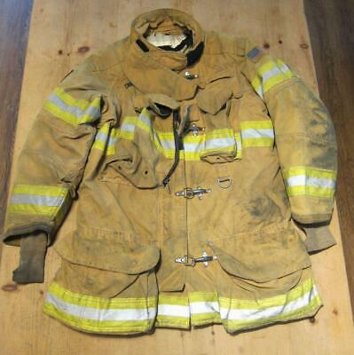 Lion Janesville Firefighter Fireman Turnout Gear Jacket Size 44.36.8 - [B] (E1)