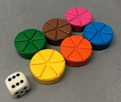Trivial Pursuit Replacement Game Pieces pies wedges movers complete set parts