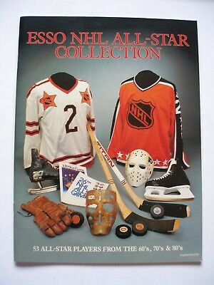 1988-89 Vintage ESSO NHL All-Star Collection Sticker Album with Stickers