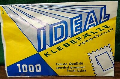 IDEAL PRINZ STAMP HINGES Packet of 1000 Folded FINEST QUALITY Acid Free GUM
