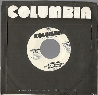 """Band Aid, """"Do They Know It's Christmas?"""" b/w """"Feed The World""""; 7"""" Promo 45"""