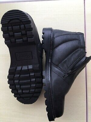 Men's  Winter Ankle Boots, Size 6, Black Leather, Thermal Lined