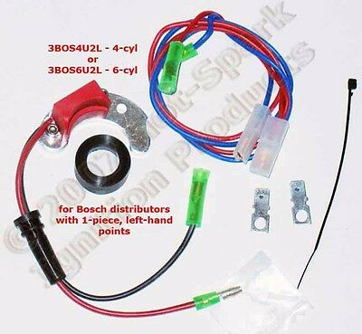 Electronic Ignition for 1-piece, Left-Pivoting points in 4-cyl BMW 2002 3BOS4U2L