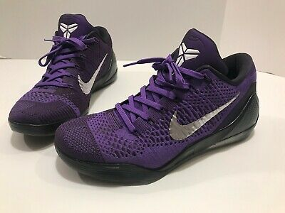 f4ab3e09cb5 Nike Kobe IX 9 Elite Low Moonwalker Hyper Grape White Cave Purple Size 10.5