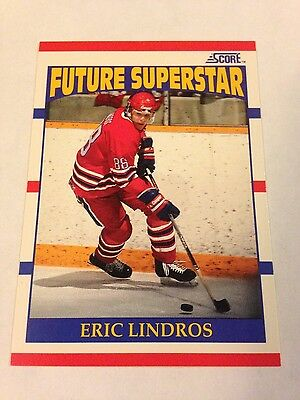 1990-91 Score Hockey-#440 Eric Lindros Rookie-Future Superstar