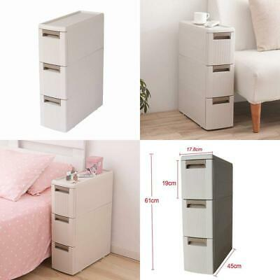 3 Storage Drawers Rolling Cart Organizer Plastic Drawers Unit On Wheels Tower