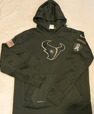 Nike NFL Houston Texans Salute to Service On Field Therma Pullover Hoodie  SizeXL 9b6d26564