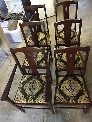 Antique Silky Oak Table And Chairs