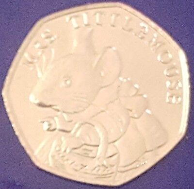 50p coin UNC 2018 Mrs Tittlemouse Beatrix Potter Fifty Pence from sealed bag