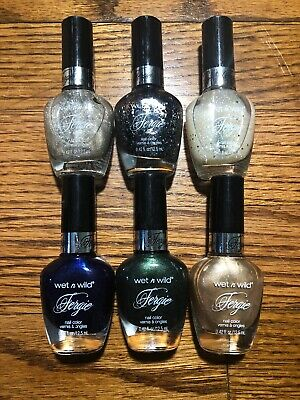 Wet n Wild Fergie Nail Polish .42oz NEW LOT OF 6 Assorted Colors