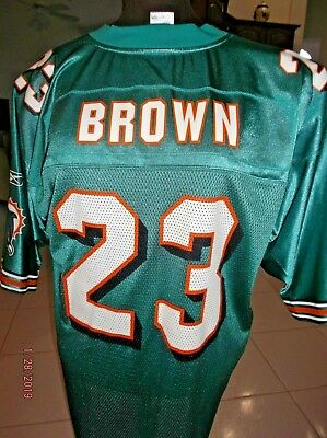 d77df8b80 Miami Dolphins Ronnie Brown  23 Jersey Men s Size Xl Authentic Nylon ...