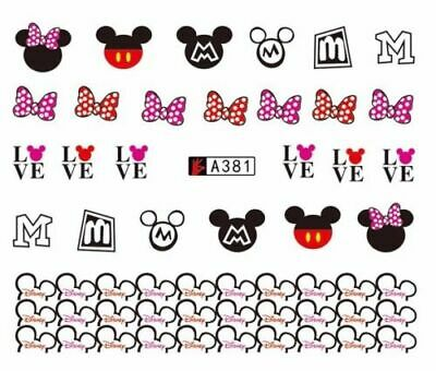 ❤️Nouveau Stickers Mickey Minnie Mouse  Bijoux Ongles Nail Art Manucure