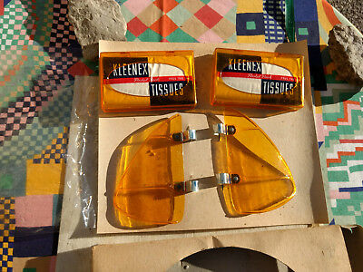 NOS MIB vtg 50s gift pack with 2 kleenex dispensers plus a set of amber breezies