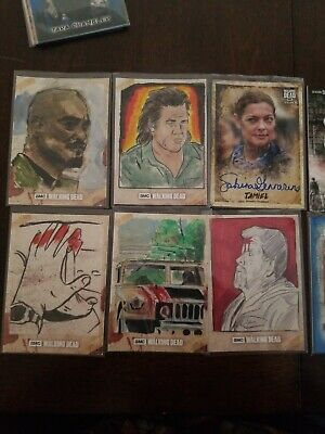 Topps Walking Dead Sketch Patch Auto Lot Of 10