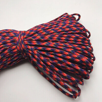 550 Paracord Parachute Cord Lanyard Mil Spec Type III 7 Strand Core 25FT HOT12