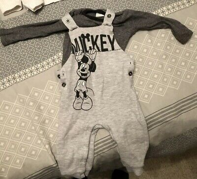 89f634388 DISNEY BABY MICKEY Mouse Dungaree Set 6-9 Months - £4.20 | PicClick UK