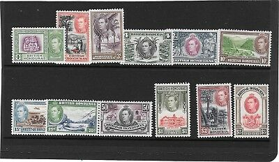 BRIT. HONDURAS KGVI  1938 -47   DEFINITIVES  1c. to $5 SET  SG.150/161  L.M.MINT