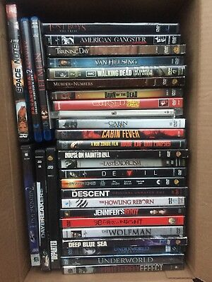 Lot of 37 Used ASSORTED Scary Horror DVD Movies Bulk -Used DVDs Lot- Wholesale