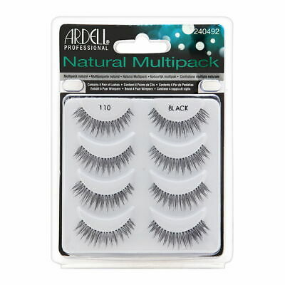 fc551cb2241 Ardell Natural Multipack Lashes - 110 Black 4 Pack Brand New