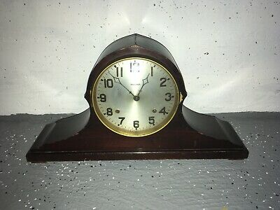 Vintage Antique Ansonia Tambour Mantle Clock For Parts Or Restoration *Must See*