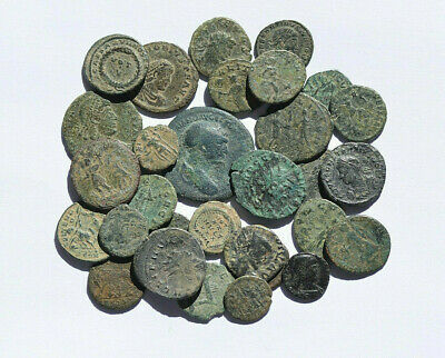 LARGE SET 30 AUTHENTIC ROMAN COINS. GREAT LOT FOR BEGINNERS OR FOR TRADING. nº 4