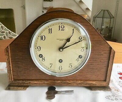 Lovely 'garrard' Westminster Chiming Mantel Clock - Working With Key
