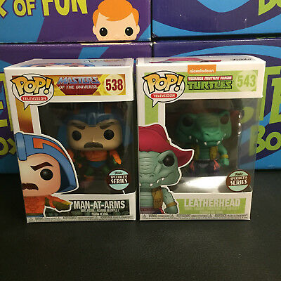 Funko Pop Television Leatherhead & Man-At-Arms Specialty Store Exclusives