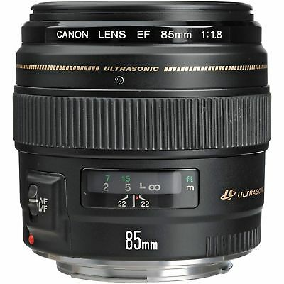 EUC Canon EF 85mm f/1.8 USM Portrait Lens with UV Filter, Free Shipping!