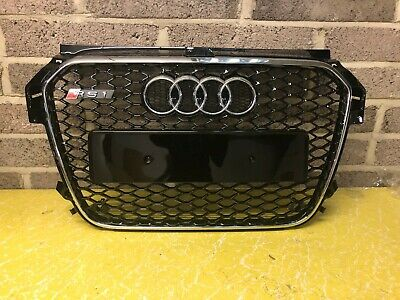 Audi A1 S1 RS1 Honeycomb Style Front Grill Grille Gloss Black 2010-2014