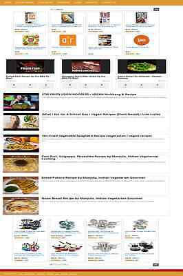 COOKING and RECIPES VIDEO WEBSITE BUSINESS FOR SALE! MOBILE RESPONSIVE