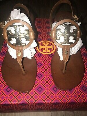 721c0701ef6d TORY BURCH HOLLY Sandals With Kitten Heel Size 8 Black Patent ...