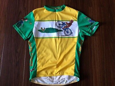8412d1237 PRIMAL WEAR CURIOUS George Cycling Jersey 3 4 Zip Animated Monkey ...